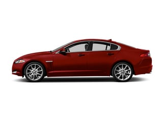 Italian Racing Red 2014 Jaguar XF Pictures XF Sedan 4D AWD V6 Supercharged photos side view