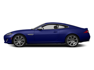 Dark Sapphire Metallic 2014 Jaguar XK Pictures XK Coupe 2D V8 photos side view
