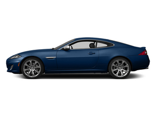 Osmium Blue Metallic 2014 Jaguar XK Pictures XK Coupe 2D V8 photos side view