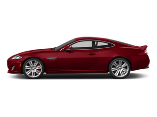 Italian Racing Red 2014 Jaguar XK Pictures XK Coupe 2D XKR V8 Supercharged photos side view