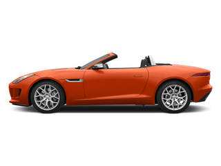 Firesand Metallic 2014 Jaguar F-TYPE Pictures F-TYPE Convertible 2D V6 photos side view