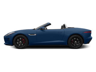 Indigo Blue Metallic 2014 Jaguar F-TYPE Pictures F-TYPE Convertible 2D S V6 photos side view