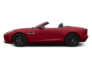 Italian Racing Red 2014 Jaguar F-TYPE Pictures F-TYPE Convertible 2D S V6 photos side view