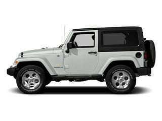 Bright White Clearcoat 2014 Jeep Wrangler Pictures Wrangler Utility 2D Altitude 4WD V6 photos side view
