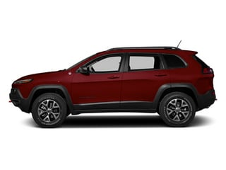 Deep Cherry Red Crystal Pearlcoat 2014 Jeep Cherokee Pictures Cherokee Utility 4D Trailhawk 4WD photos side view