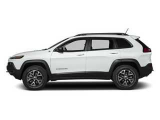 Bright White Clearcoat 2014 Jeep Cherokee Pictures Cherokee Utility 4D Trailhawk 4WD photos side view