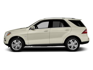 Diamond White Metallic 2014 Mercedes-Benz M-Class Pictures M-Class Utility 4D ML350 2WD V6 photos side view