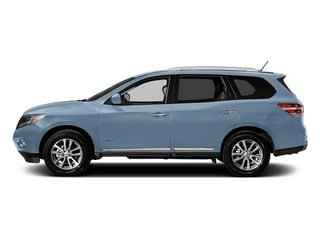 Arctic Blue Metallic 2014 Nissan Pathfinder Pictures Pathfinder Utility 4D Platinum 2WD I4 Hybrid photos side view
