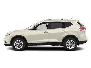 Moonlight White 2014 Nissan Rogue Pictures Rogue Utility 4D SL AWD I4 photos side view