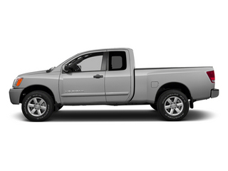 Brilliant Silver Metallic 2014 Nissan Titan Pictures Titan King Cab S 4WD photos side view