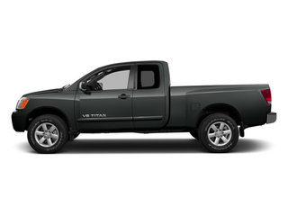 Gun Metallic 2014 Nissan Titan Pictures Titan King Cab S 4WD photos side view