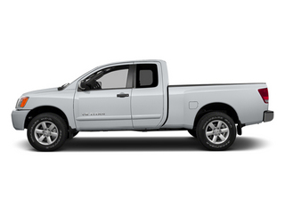 Glacier White 2014 Nissan Titan Pictures Titan King Cab S 4WD photos side view