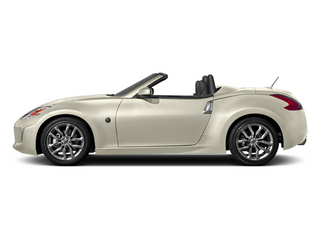 Pearl White 2014 Nissan 370Z Pictures 370Z Roadster 2D Touring V6 photos side view