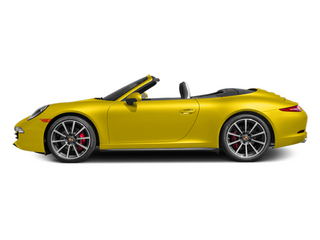 Racing Yellow 2014 Porsche 911 Pictures 911 Cabriolet 2D 4 AWD H6 photos side view