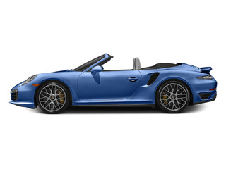 Sapphire Blue Metallic 2014 Porsche 911 Pictures 911 Cabriolet 2D AWD H6 Turbo photos side view