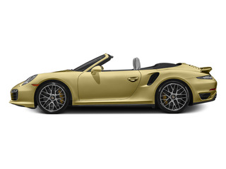 Lime Gold Metallic 2014 Porsche 911 Pictures 911 Cabriolet 2D AWD H6 Turbo photos side view