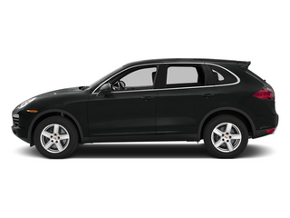 Jet Black Metallic 2014 Porsche Cayenne Pictures Cayenne Utility 4D Platinum AWD V6 T-Diesel photos side view