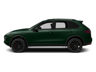 Jet Green Metallic 2014 Porsche Cayenne Pictures Cayenne Utility 4D AWD V8 Turbo photos side view