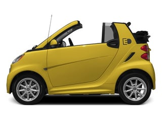 Clear Flame Yellow 2014 smart fortwo electric drive Pictures fortwo electric drive Convertible 2D Electric photos side view