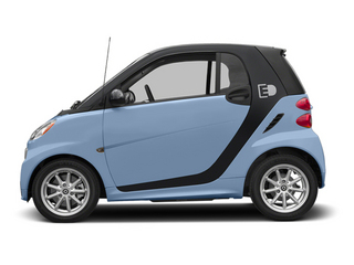 Light Blue Metallic 2014 smart fortwo electric drive Pictures fortwo electric drive Coupe 2D Electric photos side view