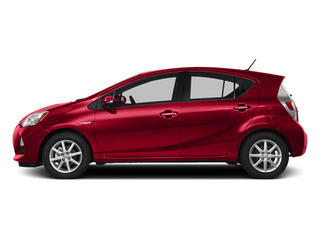 Absolutely Red 2014 Toyota Prius c Pictures Prius c Liftack 5D c I4 Hybrid photos side view
