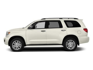 Blizzard Pearl 2014 Toyota Sequoia Pictures Sequoia Utility 4D Platinum 4WD V8 photos side view
