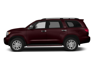 Sizzling Crimson Mica 2014 Toyota Sequoia Pictures Sequoia Utility 4D Platinum 4WD V8 photos side view