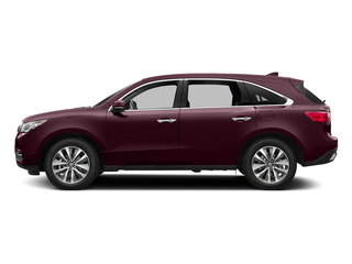 Dark Cherry Pearl 2015 Acura MDX Pictures MDX Utility 4D Technology DVD AWD V6 photos side view
