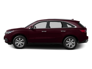 Dark Cherry Pearl 2015 Acura MDX Pictures MDX Utility 4D Advance DVD 2WD V6 photos side view