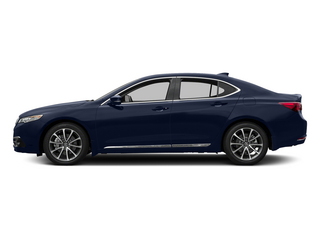 Fathom Blue Pearl 2015 Acura TLX Pictures TLX Sedan 4D Advance V6 photos side view
