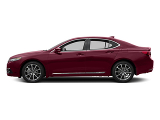 Basque Red Pearl II 2015 Acura TLX Pictures TLX Sedan 4D Advance V6 photos side view
