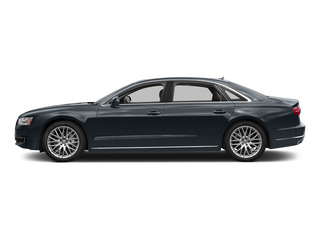 Moonlight Blue Metallic 2015 Audi A8 L Pictures A8 L Sedan 4D TDI L AWD V6 photos side view