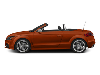 Volcano Red Metallic/Black Roof 2015 Audi TTS Pictures TTS Roadster 2D AWD photos side view