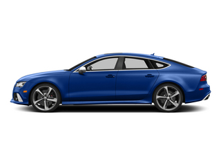 Sepang Blue Pearl Effect 2015 Audi RS 7 Pictures RS 7 Sedan 4D Prestige AWD photos side view