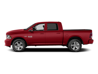 Bright Red 2015 Ram Truck 1500 Pictures 1500 Crew Cab Express 4WD photos side view