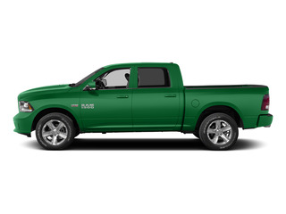 Bright Green 2015 Ram Truck 1500 Pictures 1500 Crew Cab Express 4WD photos side view