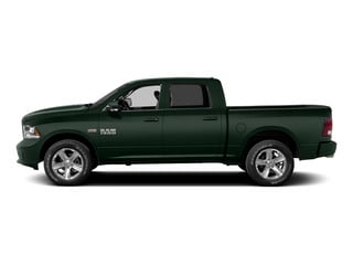 Black Forest Green Pearlcoat 2015 Ram Truck 1500 Pictures 1500 Crew Cab Express 4WD photos side view