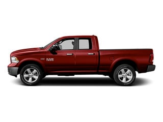 Flame Red Clearcoat 2015 Ram Truck 1500 Pictures 1500 Quad Cab Laramie 2WD photos side view