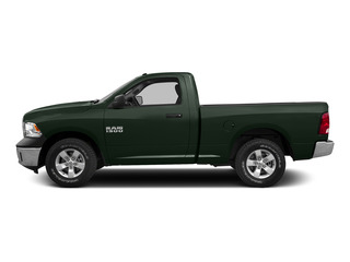 Black Forest Green Pearlcoat 2015 Ram Truck 1500 Pictures 1500 Regular Cab SLT 2WD photos side view