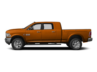 Omaha Orange 2015 Ram Truck 3500 Pictures 3500 Mega Cab SLT 4WD photos side view