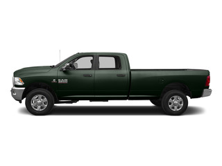 Black Forest Green Pearlcoat 2015 Ram Truck 3500 Pictures 3500 Crew Cab Laramie 4WD photos side view