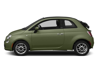 Verde Oliva (Olive Green) 2015 FIAT 500c Pictures 500c Convertible 2D Pop I4 photos side view
