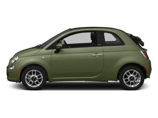 Verde Oliva (Olive Green) 2015 FIAT 500c Pictures 500c Convertible 2D Lounge I4 photos side view