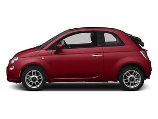 Rosso (Red) 2015 FIAT 500c Pictures 500c Convertible 2D Lounge I4 photos side view