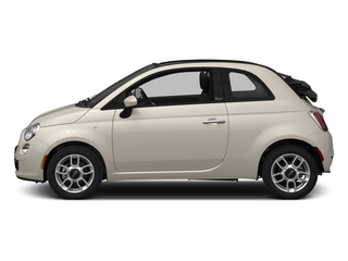 Bianco (White) 2015 FIAT 500c Pictures 500c Convertible 2D Lounge I4 photos side view