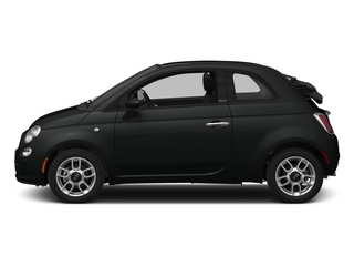 Nero Puro (Straight Black) 2015 FIAT 500c Pictures 500c Convertible 2D Lounge I4 photos side view