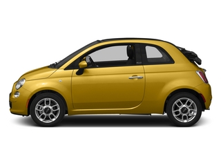 Giallo Moderna Perla (Pearl Yellow TC) 2015 FIAT 500c Pictures 500c Convertible 2D Pop I4 photos side view