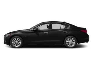 Black Obsidian 2015 INFINITI Q50 Pictures Q50 Sedan 4D Sport AWD V6 photos side view