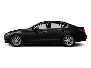 Malbec Black 2015 INFINITI Q50 Pictures Q50 Sedan 4D Premium V6 Hybrid photos side view