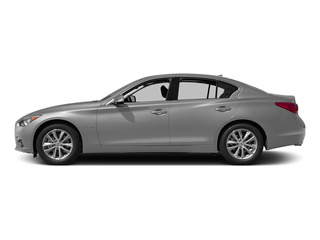 Liquid Platinum 2015 INFINITI Q50 Pictures Q50 Sedan 4D Premium V6 Hybrid photos side view